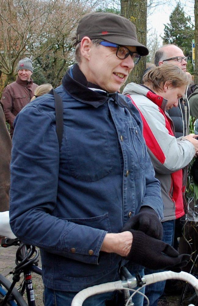 Wim Daniëls geeft inkijk in het wielrennen van toen en nu....(fotoCees van Keulen)