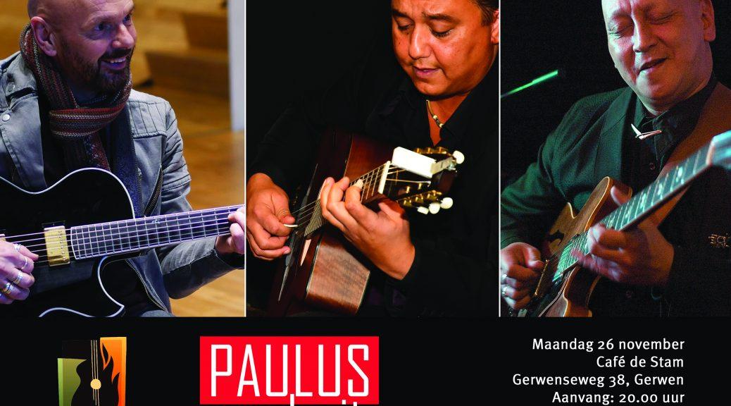 Drie topgitaristen in De Stam Gerwen