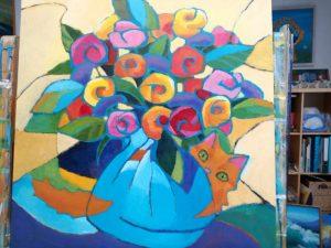 Workshop voor volwassenen: bloemen schilderen
